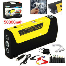50800mAh Car Jump Start Pack Portable Booster Charger Adapter Battery Power Bank