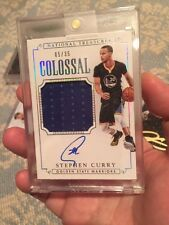 STEPHEN CURRY 2014-15 NATIONAL TREASURES COLOSSAL AUTO AUTOGRAPH/JERSEY #05/35