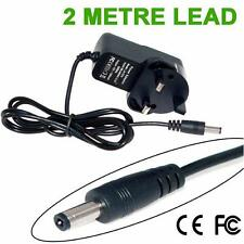 UK 9V 1A  2M Long Lead Mains Adaptor Power Supply Charger