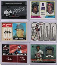 6 COUNT LOT ROD CAREW TWINS WITH 2 VINTAGE CARDS AND 1 SERIAL #ED CARD