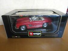 BBURAGO MERCEDES 300 SL ROADSTER 1957 Rosso modello di auto 1:18 cod.3023