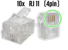 Lot de 10 fiches RJ11  (Connecteurs telephonique ,Prises telephone, DSL,  4pin)