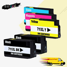 5PK Compatible HP 711 XL HP711 Ink Cartridges For HP designjet T120 T520 Series
