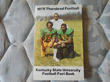 1975 KENTUCKY STATE FOOTBALL MEDIA GUIDE Yearbook Press Book Program FACT Ky AD