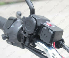 12V USB Cigarette Lighter Waterproof Power Port Outlet Socket Kit For Harley
