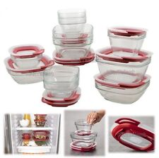 Rubbermaid Glass Food Storage Box Container 22 Piece Tupperware Kitchen Freezer