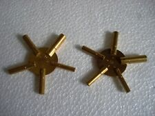 2pc Universal 5 Prong Brass Clock Key for Winding Clock, ODD & EVEN Numbers