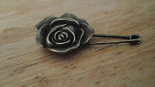 vintage safety Rose pin brooch scarf shawl belt buckle