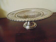 ANTIQUES FOOTED TAZZA RETICULATED SILVER PLATED 1920's number15z29