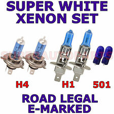 FITS  FORD GALAXY 1.9TD 1996-2000  SET H4  H1 501 SUPER WHITE  XENON LIGHT BULBS