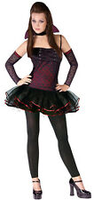 Sexy Vampire Costume Fits Teen Girl Junior Size 0-9 Women Halloween Red Dress