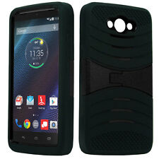 Motorola Droid Turbo XT1254BN Ballistic Nylon BLACK Hybrid Armor 3 in 1 Cover