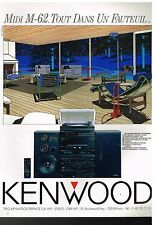 Publicité Advertising 1988 La Chaine Hi-Fi Midi M-62 Kenwood