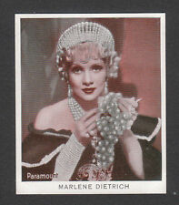 Marlene Dietrich 1934 Movie Film Star Cigarette Card from Germany #21