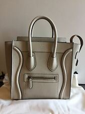 CELINE MICRO LUGGAGE BEIGE SAND AUTHENTIC HANDBAG WOMAN SAC PURSE TASCHE BOLSO
