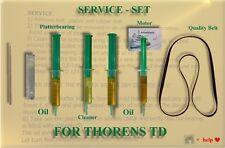 ORIGINAL JOÉL´s Service-Kit für THORENS TD 125 komplett mit Antriebsriemen