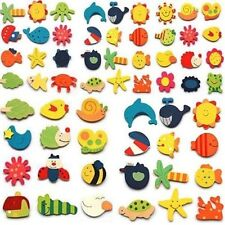 U 24pcs Novelty Animals Wooden Fridge Magnet Sticker Cute Funny Refrigerator Toy