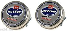 2x Punch activa Dubbin neutral 50ml Tin impermeabiliza Cuero Zapatos Y Botas De Cera