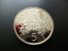 1985 PROOF 5P PIECE CAPSULED, 1985 FIVE PENCE COIN ONLY MINTED FOR USE IN SETS.
