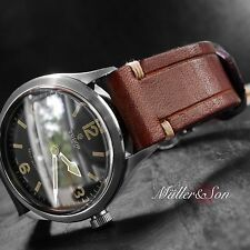 22mm Genuine Leather Watch Strap Omega Panarei Tudor Rolex replacement