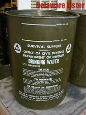 *US MILITARY COLD WAR CIVIL DEFENSE 17.5 GAL Metal DRINKING WATER CONTAINER DRUM