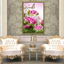 DIY 5D Diamond Painting Flower Butterfly Embroidery Cross Stitch Home Decor