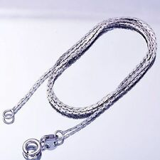 "Trendy White Gold Filled snake bone Chain Necklace For Women Gift 17.7"" Long"