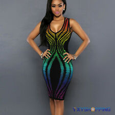 Women's Bandage Bodycon Summer Casual Evening Party Cocktail Mini Dress Clubwear