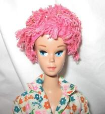 Vintage 1964 Miss Barbie 1060 w/ Swim Cap Wigs Stand Learns to Cook Outfit EXC