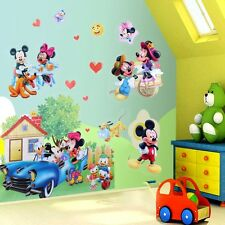 Cute Mickey Minnie Mouse Removable Wall Stickers PVC Mural Baby Boys Room Decor