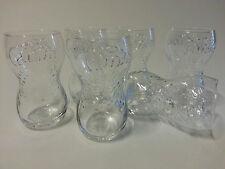 6x FANTA Glas Gläser Konturengläser 12cm Hoch (Coca Cola) ideal für Kinder NEU
