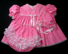 ADULT SISSY BABY PVC DRESS 3 PCS SET