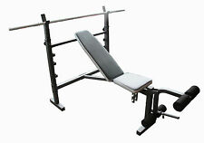 Wide Adjustable Flat Incline Decline Bench Press Home Gym Training Exercise 801