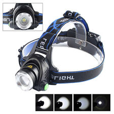 5000LM Zoomable XM-L T6 LED 18650 Tactical Military HeadLamp HeadLight Light