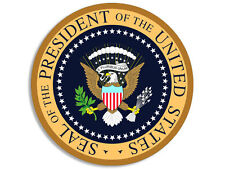 4x4 inch ROUND Presidential Seal AIR FORCE ONE COLORS Sticker - president obama