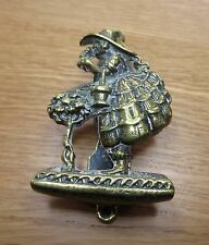 Vintage Brass Door Knocker Crinoline  lady in bonnet - Circa 1930
