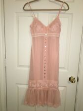 ��Sue Wong Pretty In Pink Lace Wood Bead Detail Flapper Slip Dress Size 0��