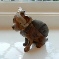 Vienna Cold Painted Bronze Pin Cushion in Shape of Dog with Bandage Signed