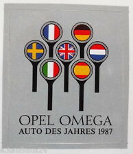 Aufkleber OPEL A OMEGA  Auto des Jahres 1987 Youngtimer Decal Sticker