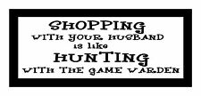 Shopping With Your Husband Is Like.. Fun Unique Hunting Magnet for Fridge or Car