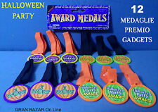 HALLOWEEN MEDAGLIA 12 Pz. PREMIO FESTA HORROR PARTY GADGETS