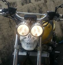 Streetfighter custom LED skull for twin headlights sidelight motorcycle