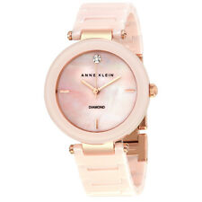 Anne Klein Light Pink Mother of Pearl Dial Ladies Watch 1018PMLP