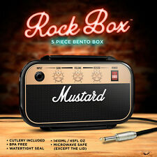 Retro Lunch Box Rock Guitar Amplifier Double Layer Food Container Box for Kids