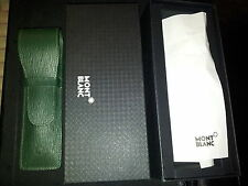 ASTUCCIO CASE MONTBLANC MONT BLANC LEATHER GREEN 2 SIZE PENNE PEN