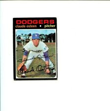 Claude Osteen Los Angeles Dodgers 1971 Topps Signed Autograph Photo Card