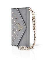 "WALLET CLUTCH CASE SILVER GUESS STUDDED COLLECTION IPHONE 6 6S 4,7"" PROTECTION"