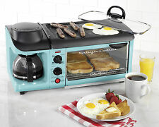 Nostalgia BSET300BLUE Retro Series 3-in-1 Breakfast Station, Blue