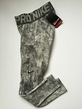 "Nouveau nike pro combat dri fit ""shred"" hyperwarm collants taille moyenne bnwt"