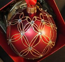 Waterford Holiday Heirlooms Ruby Wedge Ball ornament Brand 153745